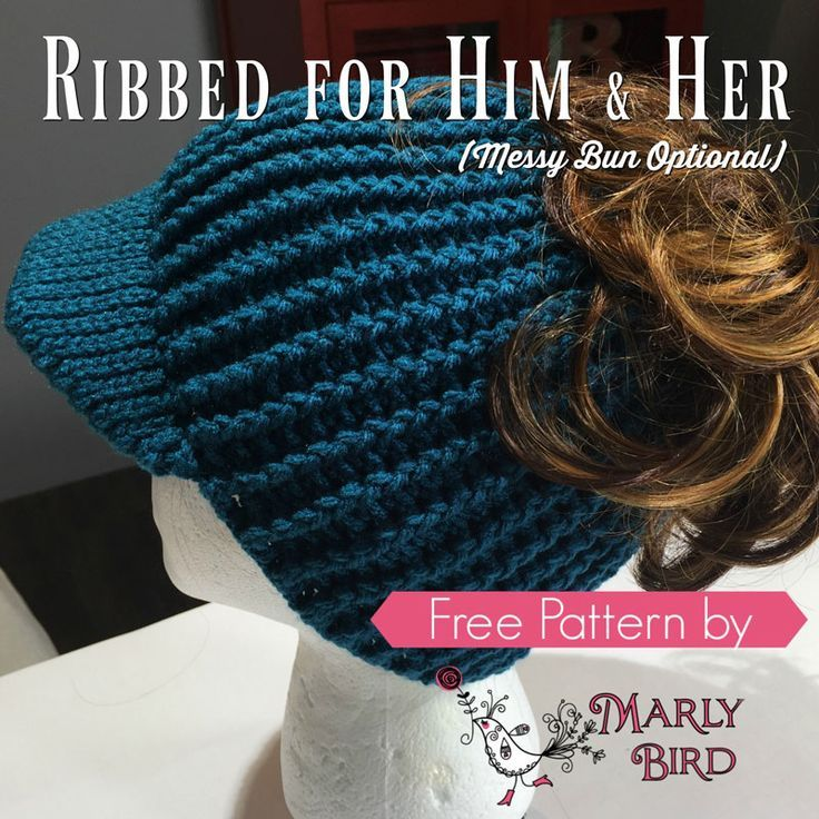 23 Free Messy Bun Hat Crochet Patterns - Make a Ponytail Beanie ...