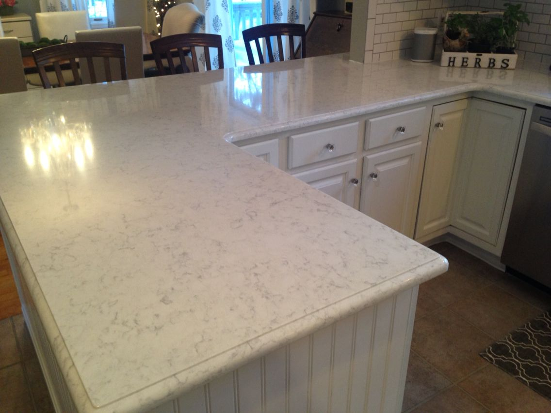 Viatera minuet quartz countertops love white kitchen dreams pinterest quartz - Pictures of kitchens with quartz countertops ...