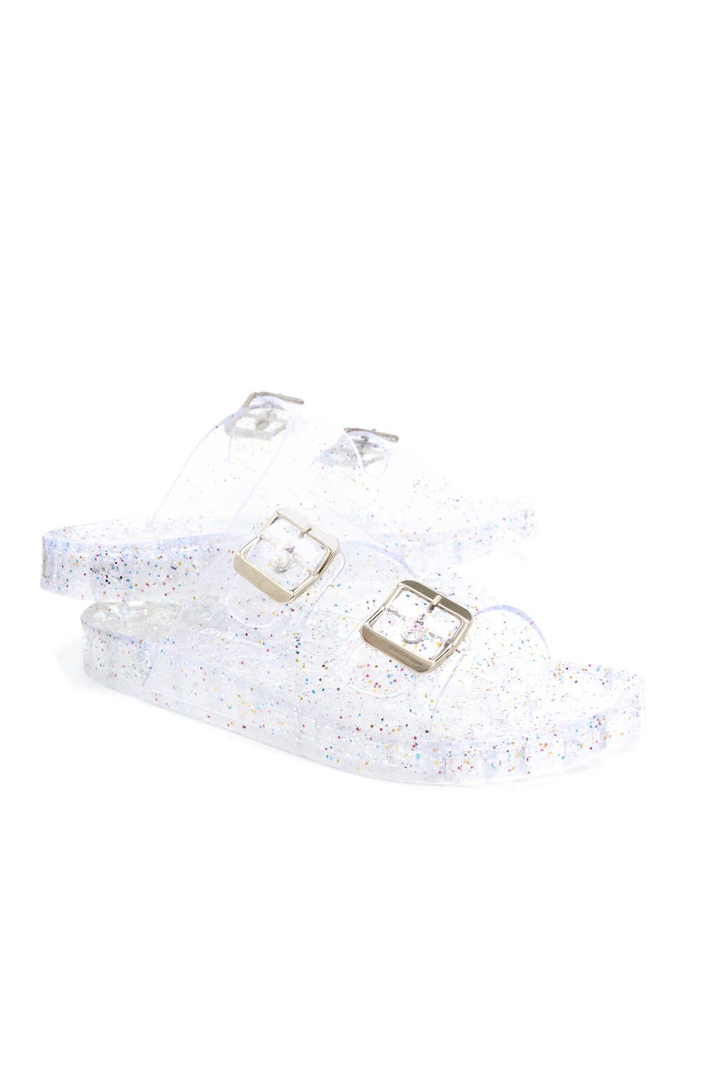 071bcd22c Jelly Rockin Slide - Clear in 2019 | Back to school shopping | Jelly ...
