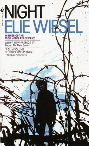 Night~ Elie Wiesel. True story about when him & his father were in a concentration camp. I also read this book in my freshman year in high school.