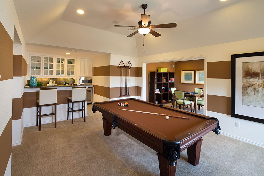Huntington Homes Whitley Place Game Room Prosper Tx Plan