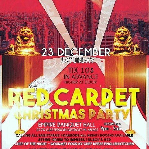 I will be bartending this Saturday Dec 23rd at the Empire Banquet Hall Christmas Party downtown!! Y'all know I'm multitalented! Hosted by @rjblazer  @keepitgoingpro . For advanced $10 tix call my boy 313-220-4734 Darnell. #christmas #party #downtown #detroit #redcarpet #presents #dancing #drinking #fun #love #food #gourmet #bartender #mix