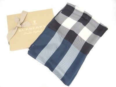 blue burberry scarf