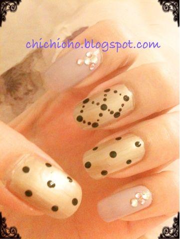 chichicho~ nail art addicts: Simple Lazy Nails