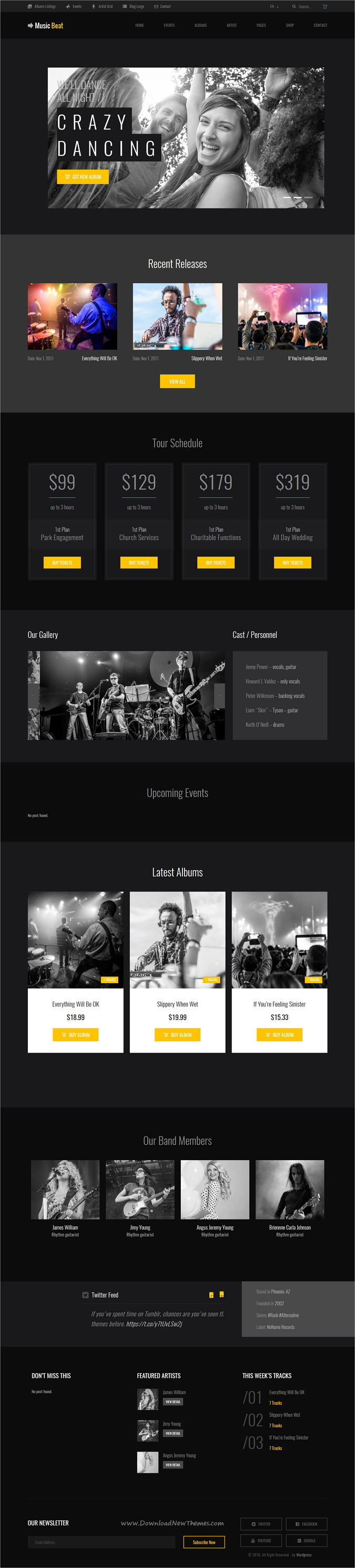 Musicbeat Music Bands Musicians Djs Wordpress Theme Music Beats