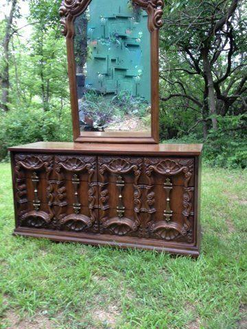 S shell carved dresser vintage s carved dressers in