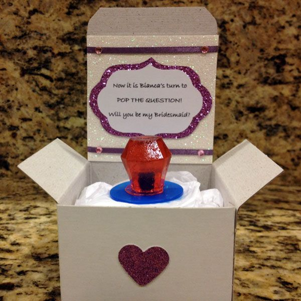 """How To """"Propose"""" To Your Bridesmaids"""