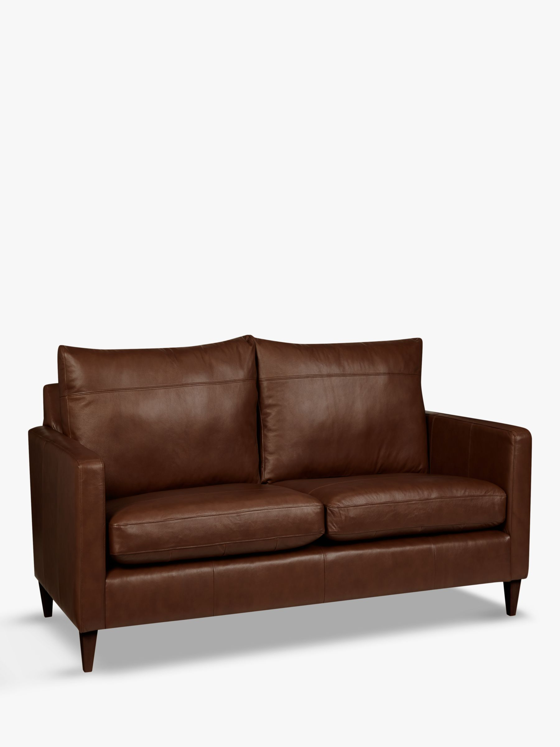 John Lewis Partners Bailey Small 2 Seater Leather Sofa Dark Leg Leather Sofa Sofa 2 Seater Sofa