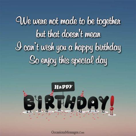 Birthday happy wishing ex 35 Emotional