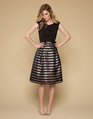 Solena Prom Dress from Monsoon - wearing it with a thick black ...