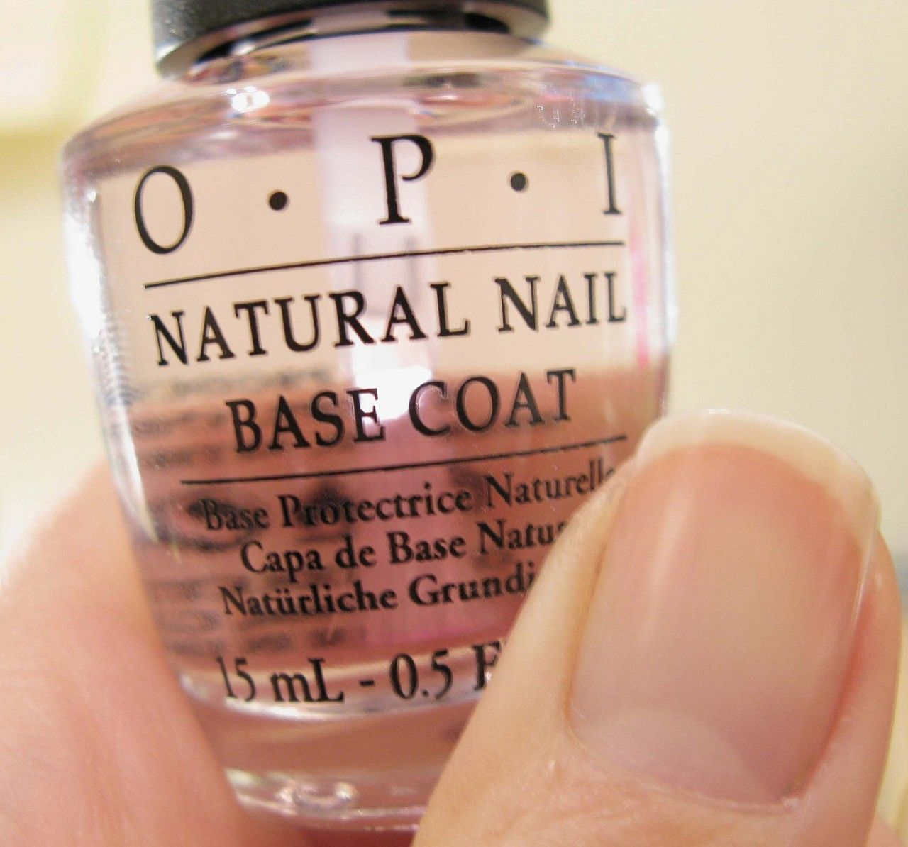 OPI NATURAL NAIL BASE COAT: 1) creates a smooth base; 2) fast drying ...