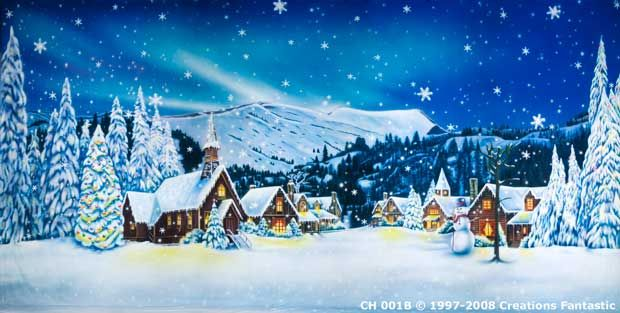 Backdrop Ch001b Christmas Village 1b Village Backdrop Christmas Village Holiday Village
