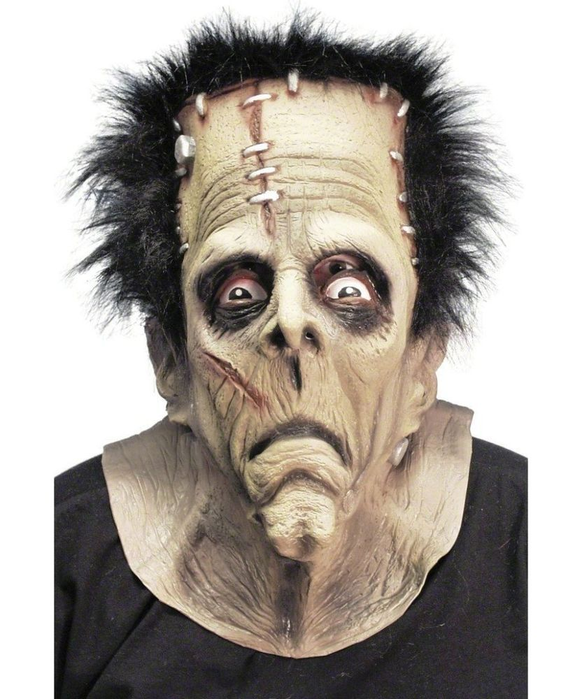 Halloween Mask Frankenstein Scary Creepy Monster Adult Fancy Dress ...