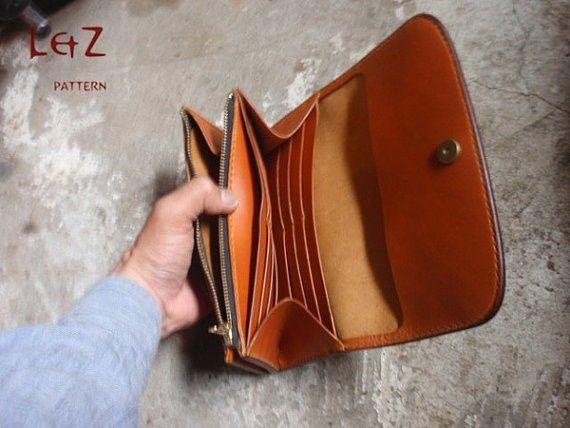 bag sewing patterns long wallet patterns PDF CCS-01 LZpattern design ...