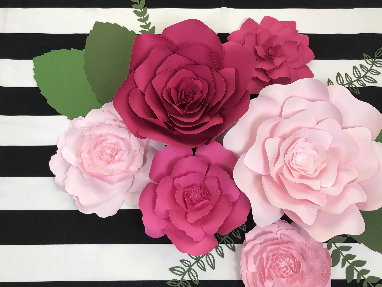 Diy Wall Flowers: Paper Flowers, Flowers