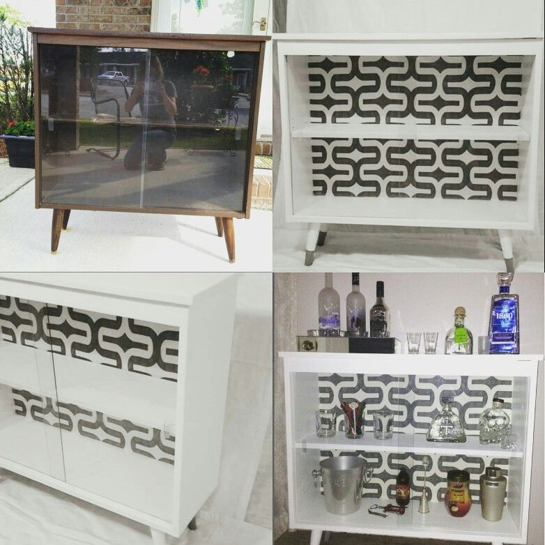 Mid Century Cabinet Makeover Mini Bar Buffet