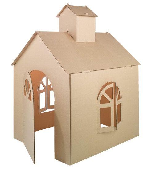 Cardboard House Kids One Day Pinterest Cardboard