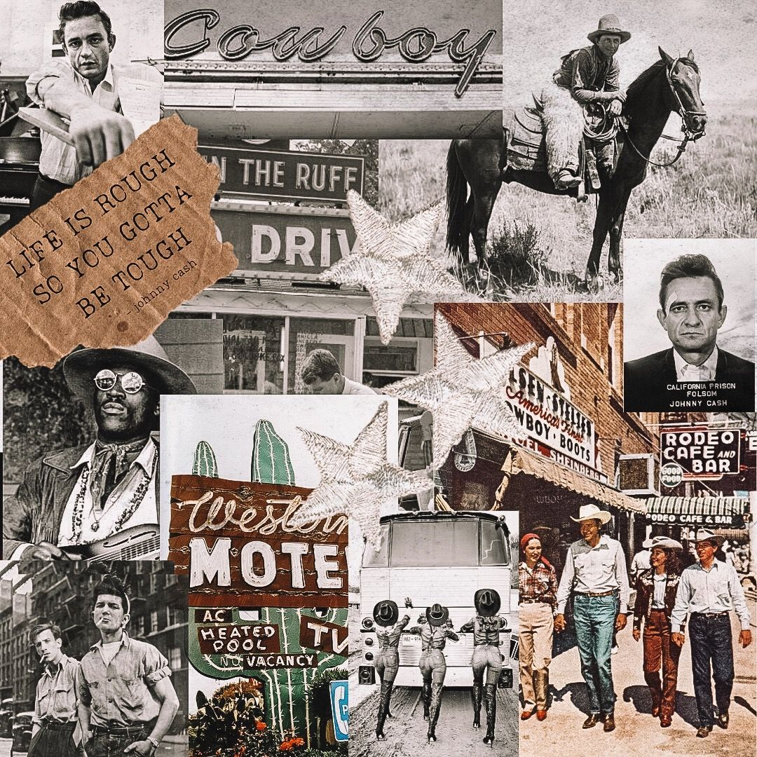 Johnny Cash In 2020 Western Wall Art Art Collage Wall Picture Collage Wall