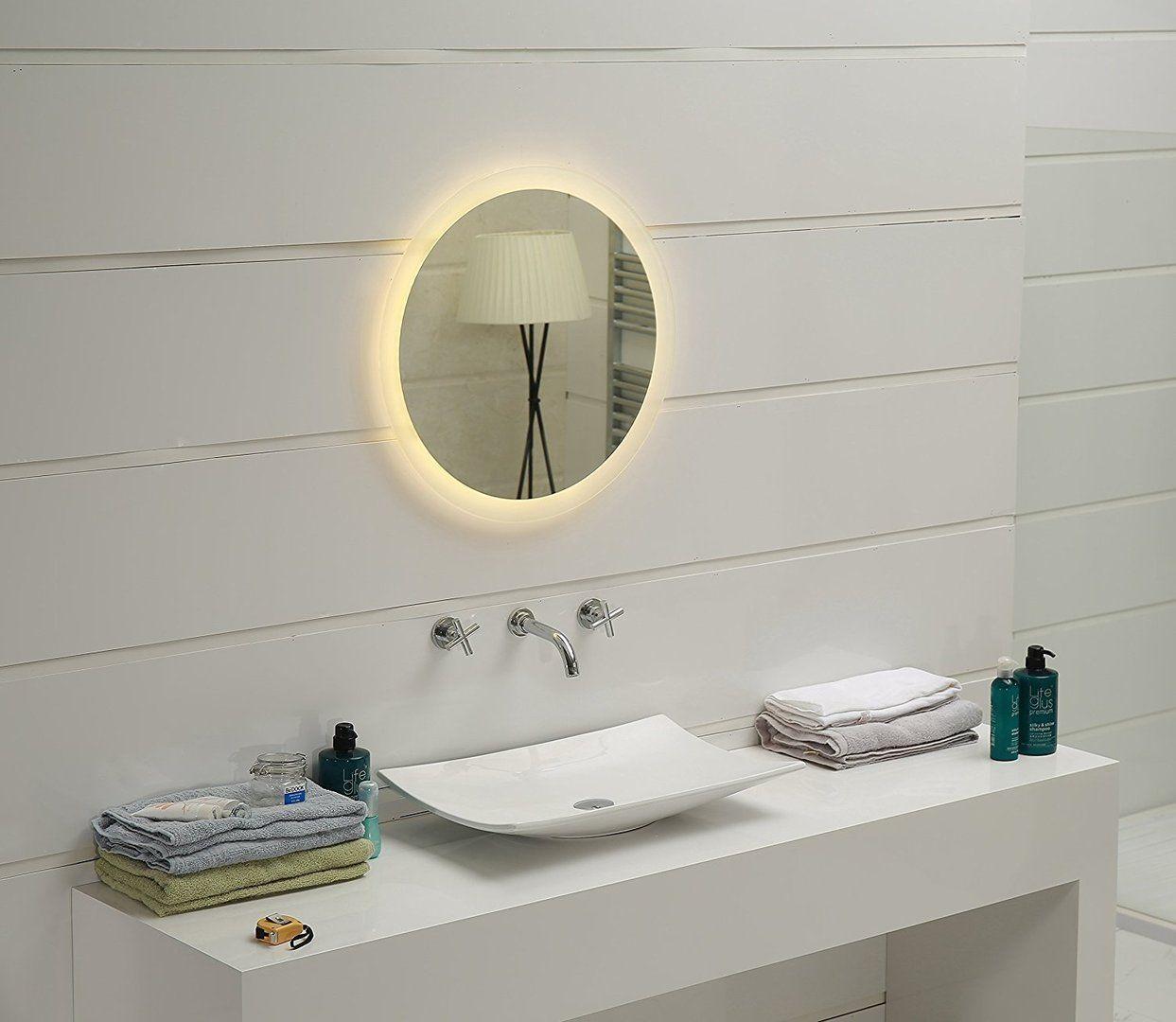 Led Lichtspiegel Kairo Rund 60cm Badezimmer Badspiegel