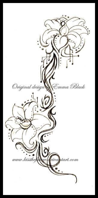 Tribal Lilly Tattoo Design By Kissthefuture On Deviantart Lilly Tattoo Design Lily Tattoo Lilac Tattoo