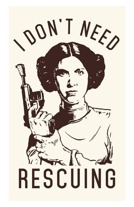 Star Wars Movie Poster – Princess Print – Inspirational Movie Quote – Fun, Funny, Classic, Strong Woman, Motivational