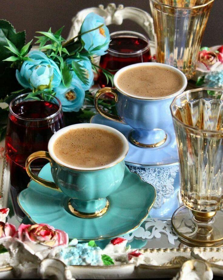 также, открытки с чаем и кофе для