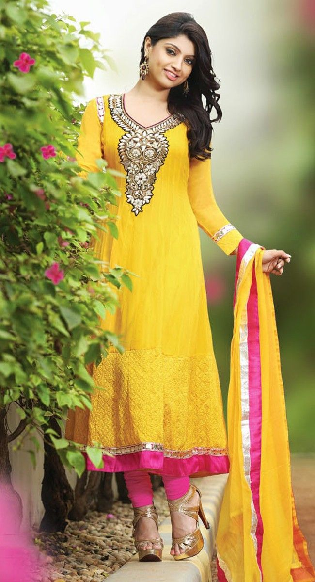 Mehndi Dresses Shalwar Kameez For Girls : Lush yellow salwar kameez pinterest