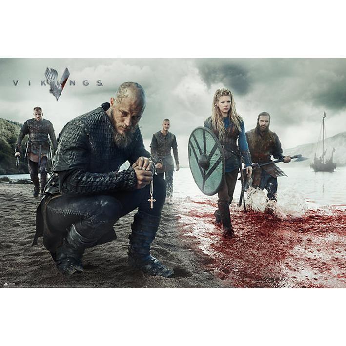 "#Poster ""Blood Landscape"" di #Vikings."