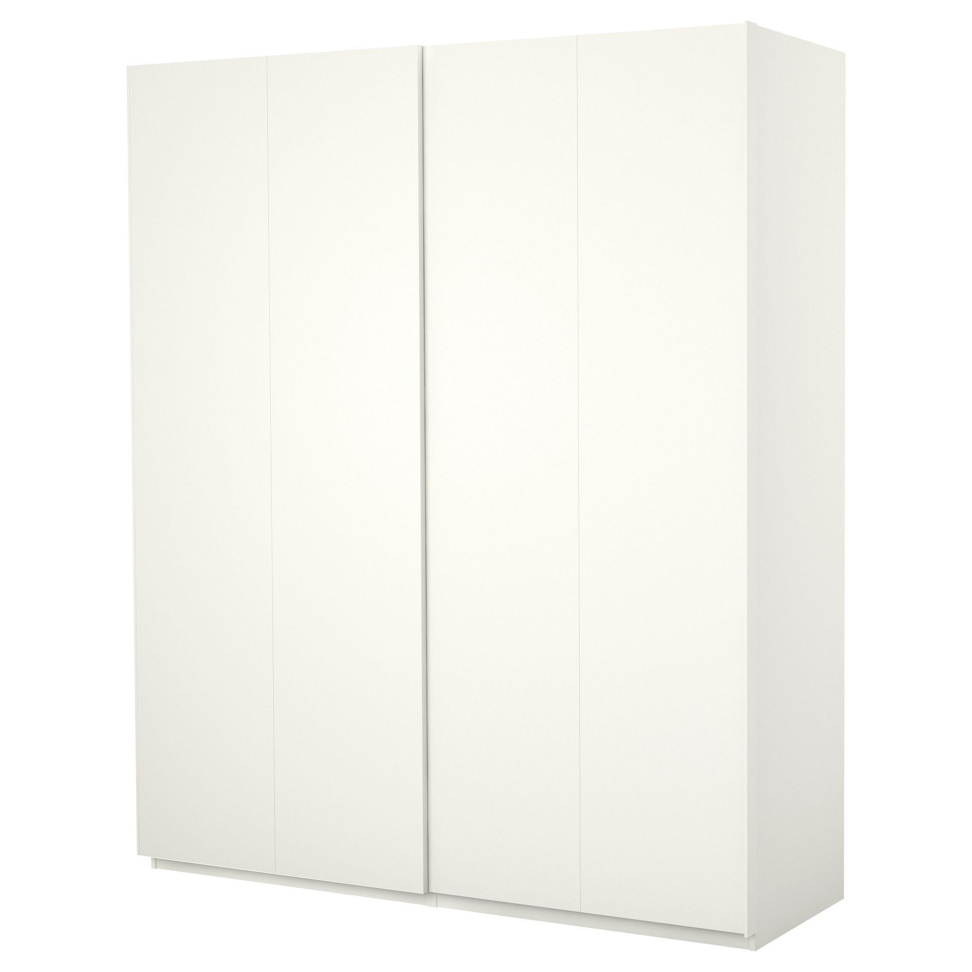 Pax armario con puertas correderas blanco hasvik blanco for Armario pax ikea puertas correderas