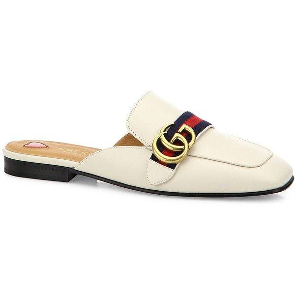 Gucci Gucci Peyton GG Leather Flat