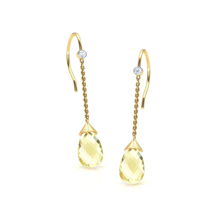 Bevan Hammered Drop Earrings Jewellery India Online