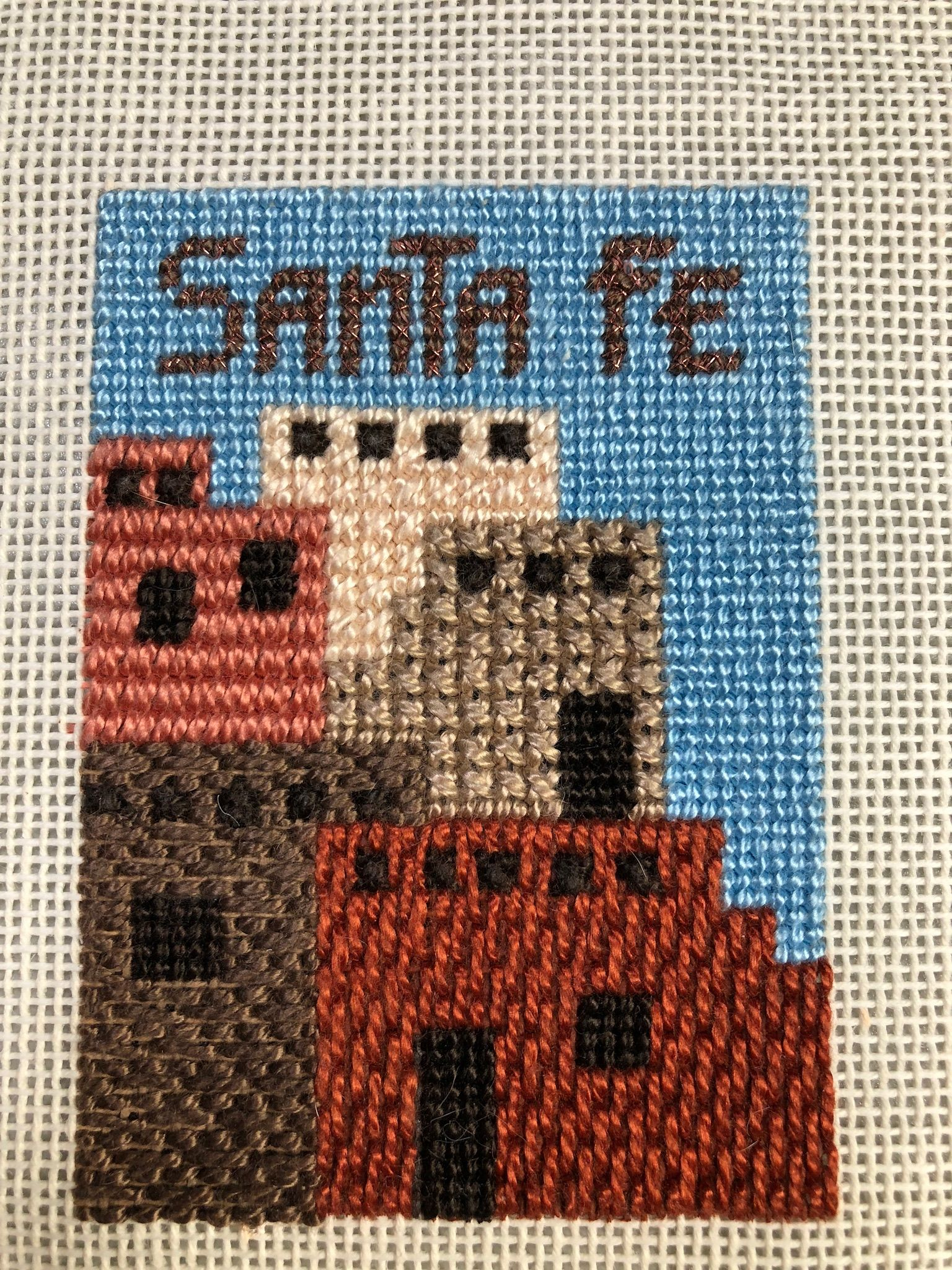 Canvas Santa Fe >> Canvas From Santa Fe 1996 Vacation Stitched Summer 2014 Anne S