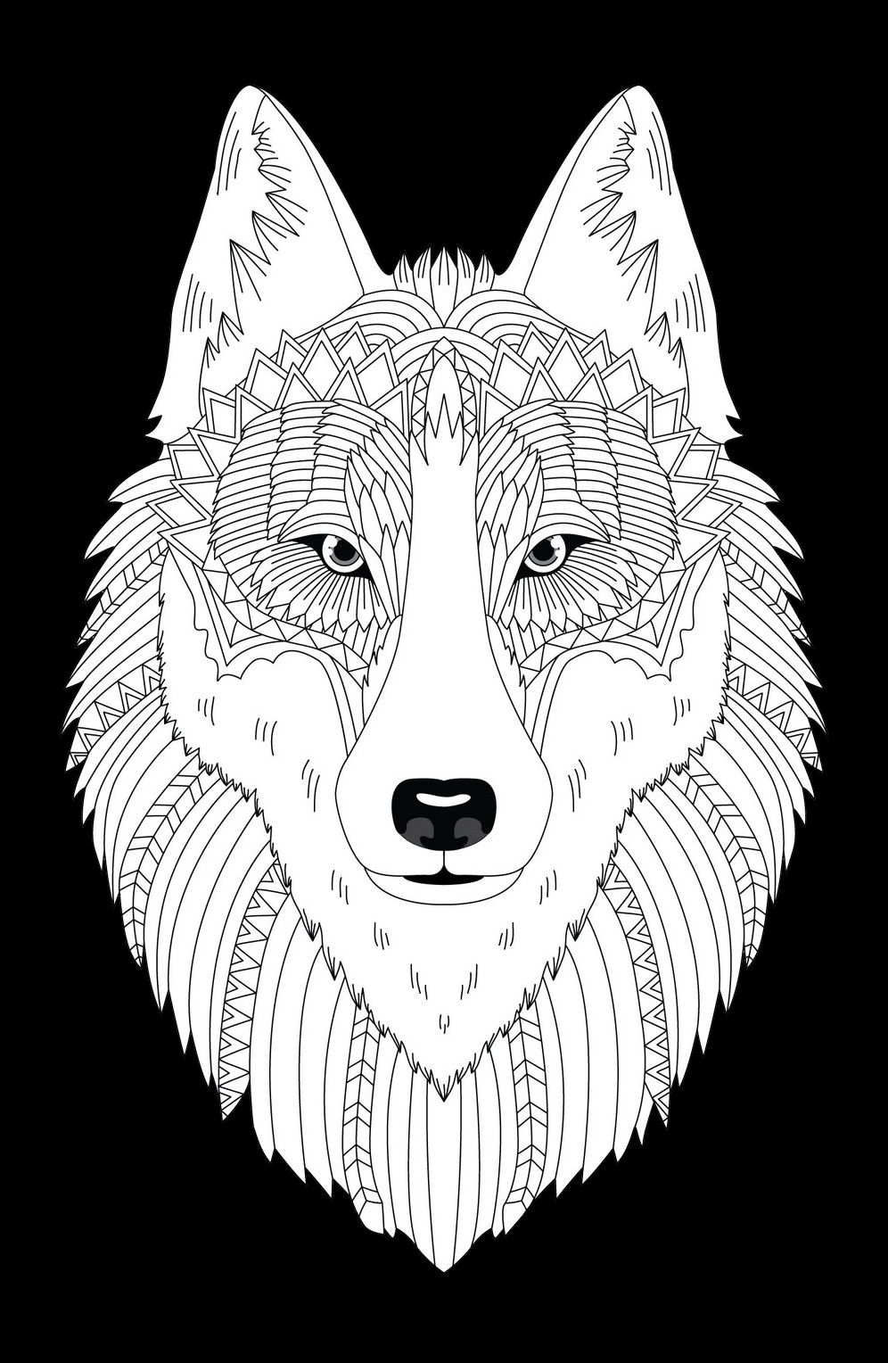 Wolf Heads Coloring Book Animal Coloring Books Animal Coloring Pages Coloring Books