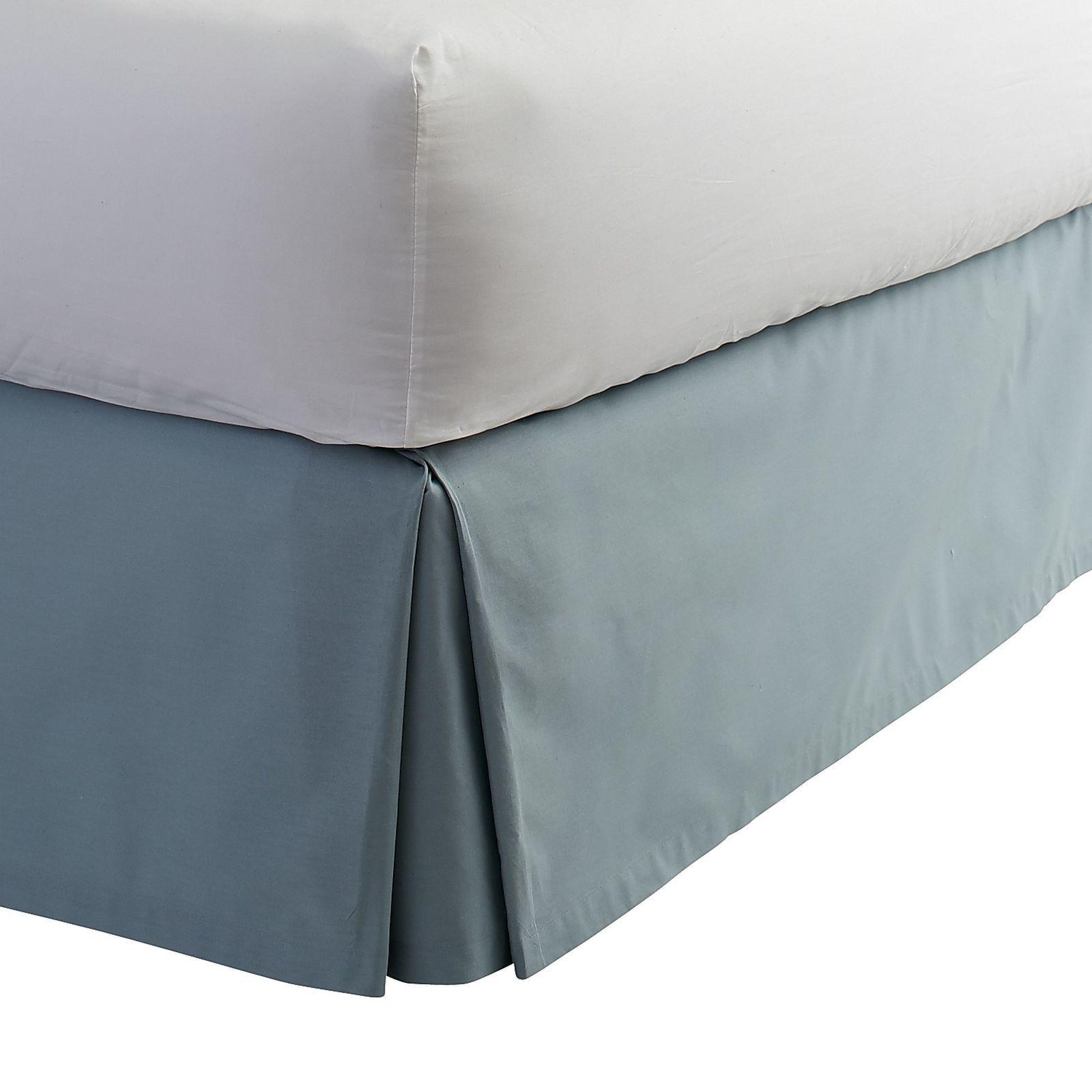 Pleat Bedskirt Celestial Blue Bedskirt Queen Bedskirt Beautiful Bedding