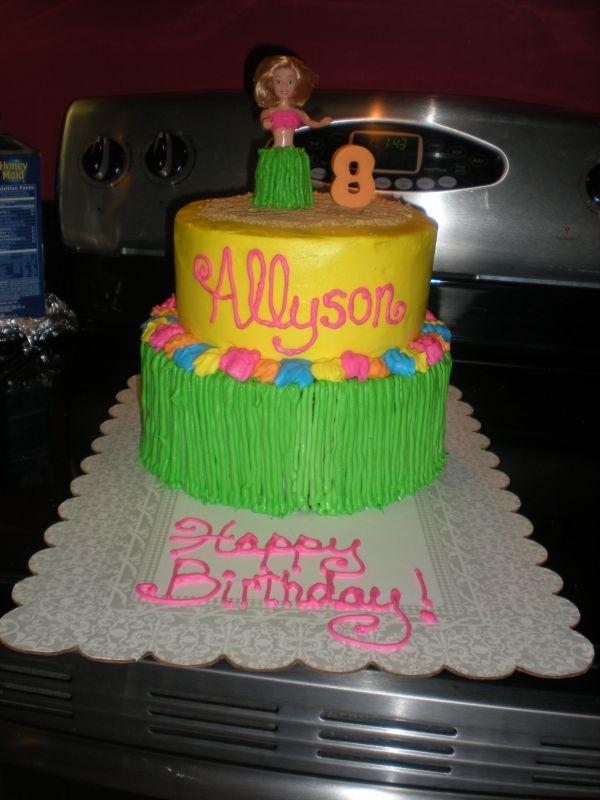 Luau Birthday Cake They Spelled Allison Wrong Cakes Pinterest