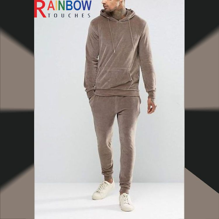 Source Latest design wholesale custom velour tracksuits men on m.alibaba.com