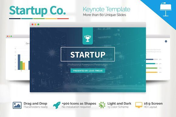 Startup Business Keynote Template by Slidedizer on @creativemarket - keynote template