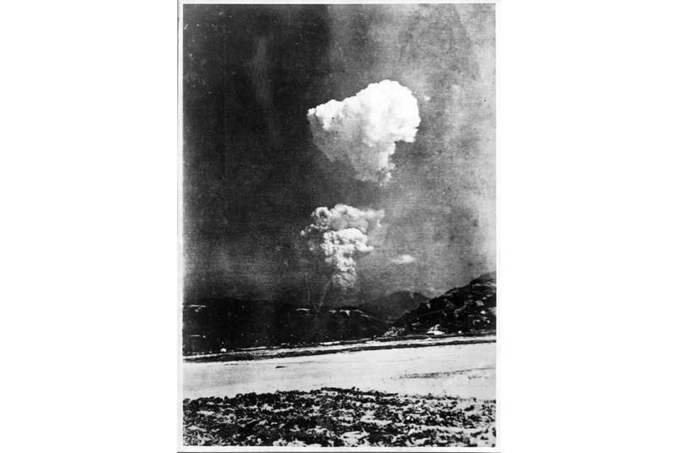 Rare black-and-white photo of Atom bomb split cloud found in Hiroshima school