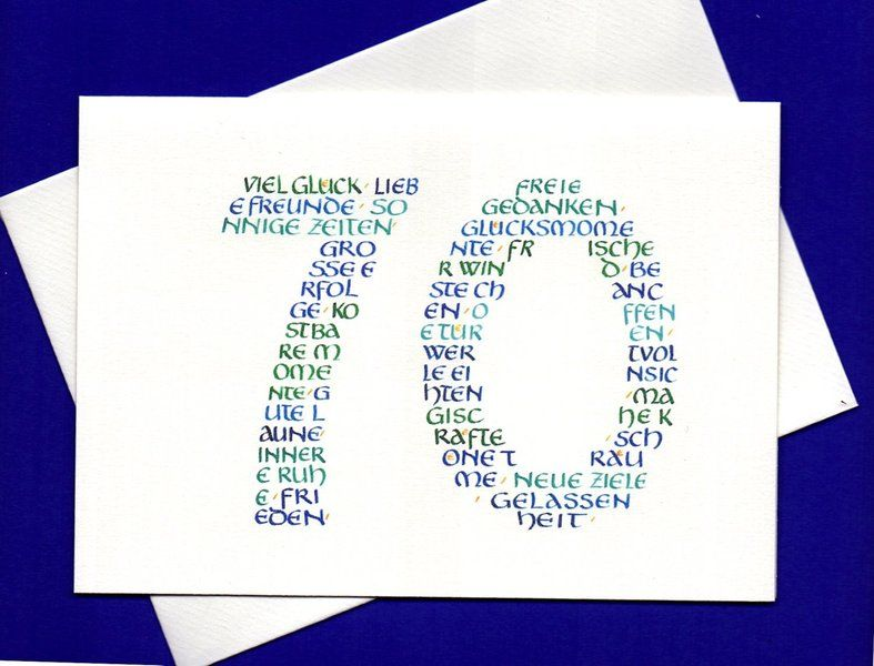 Geburtstag Grusskarte 70 Geburtstag Ein Designerstuck Von