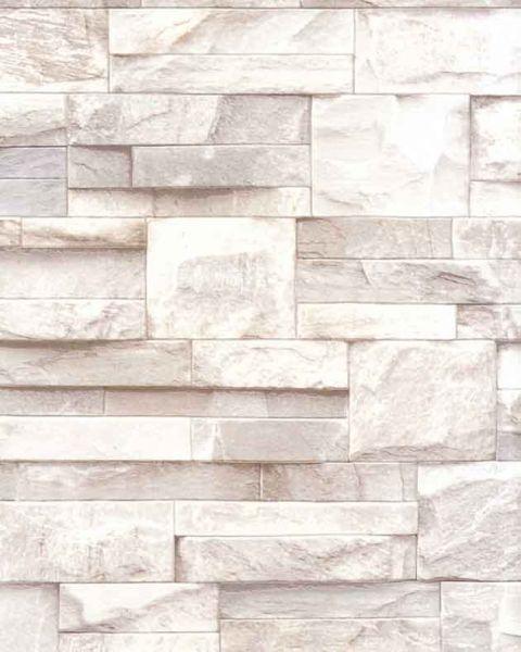 Slate Stone Brick Wall 3d Effect Textured Vinyl Wallpaper Beige J27407 Brick Effect Wallpaper Stone Wallpaper Slate Effect Wallpaper