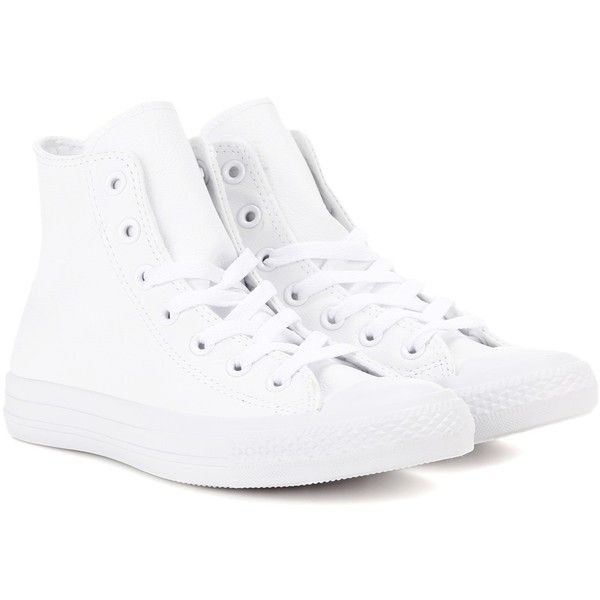 b366e17b7978 Converse Chuck Taylor All Star Leather Sneakers (120 CAD) ❤ liked on  Polyvore featuring shoes