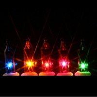 100 multi color mini lights 6 inch white wire