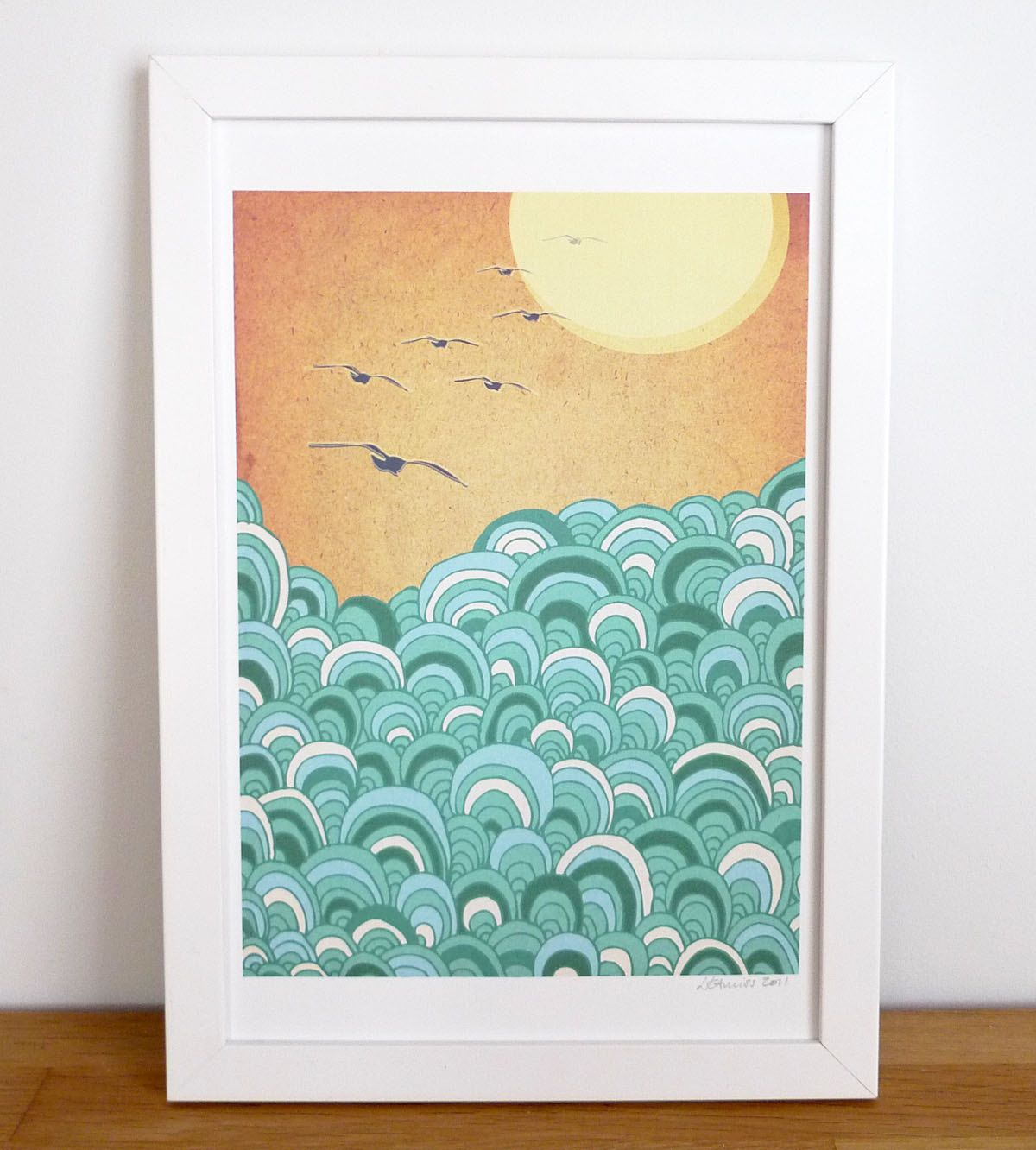 Over the sea.... €10.50, via Etsy. | - art - | Pinterest | Sea art ...