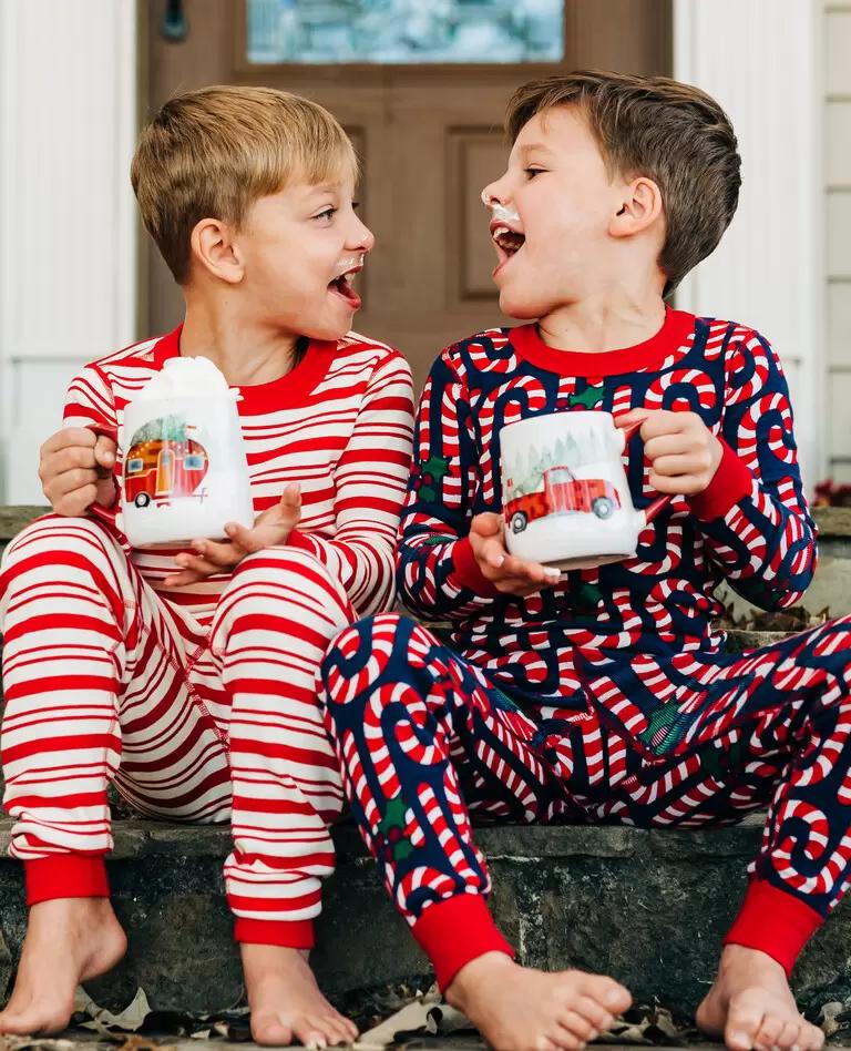 Hanna Andersson Christmas Pajamas 2021 Candy Cane Matching Family Pajamas Hanna Andersson In 2021 Family Pajamas Matching Family Pajamas Pajamas