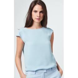 Photo of Crepe blouse in light blue windsor