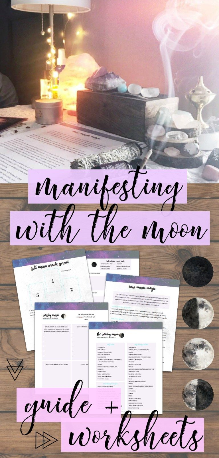 Manifesting Magic with the Moon Ritual Bundle Set #fullmoontarotspread