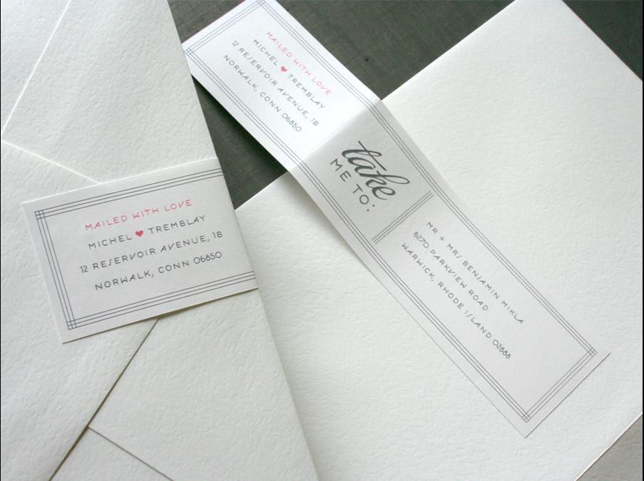 Return Labels For Wedding Invitations: Envelope Address Idea