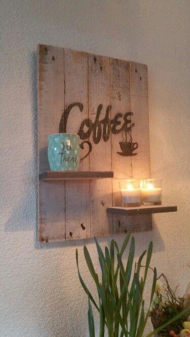 Coffee Wall Art Pallet Cantinho Do Cafe Decoracao Ideias