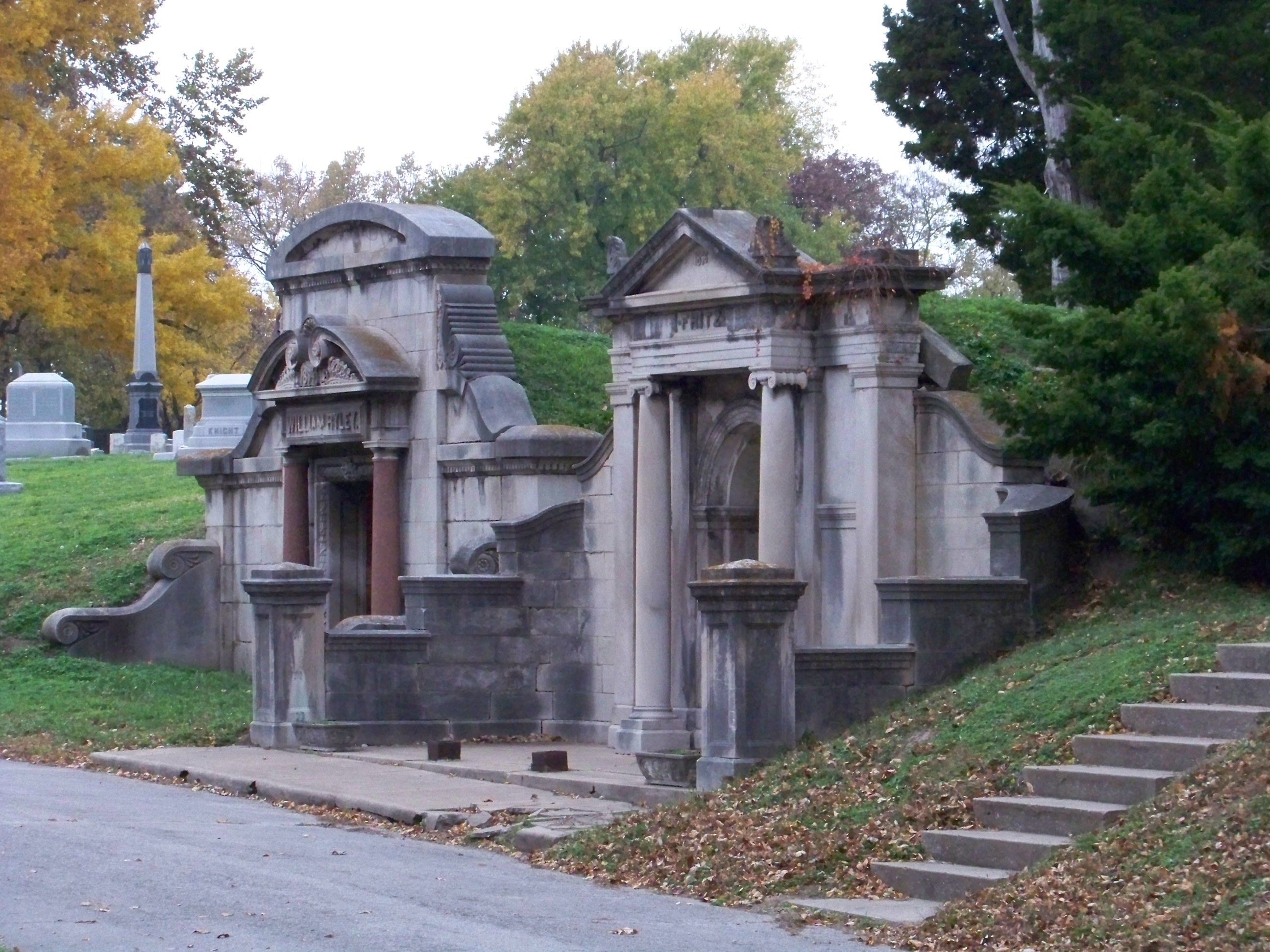 Mausoleum at Elmwood Cemetery in Kansas City Missouri