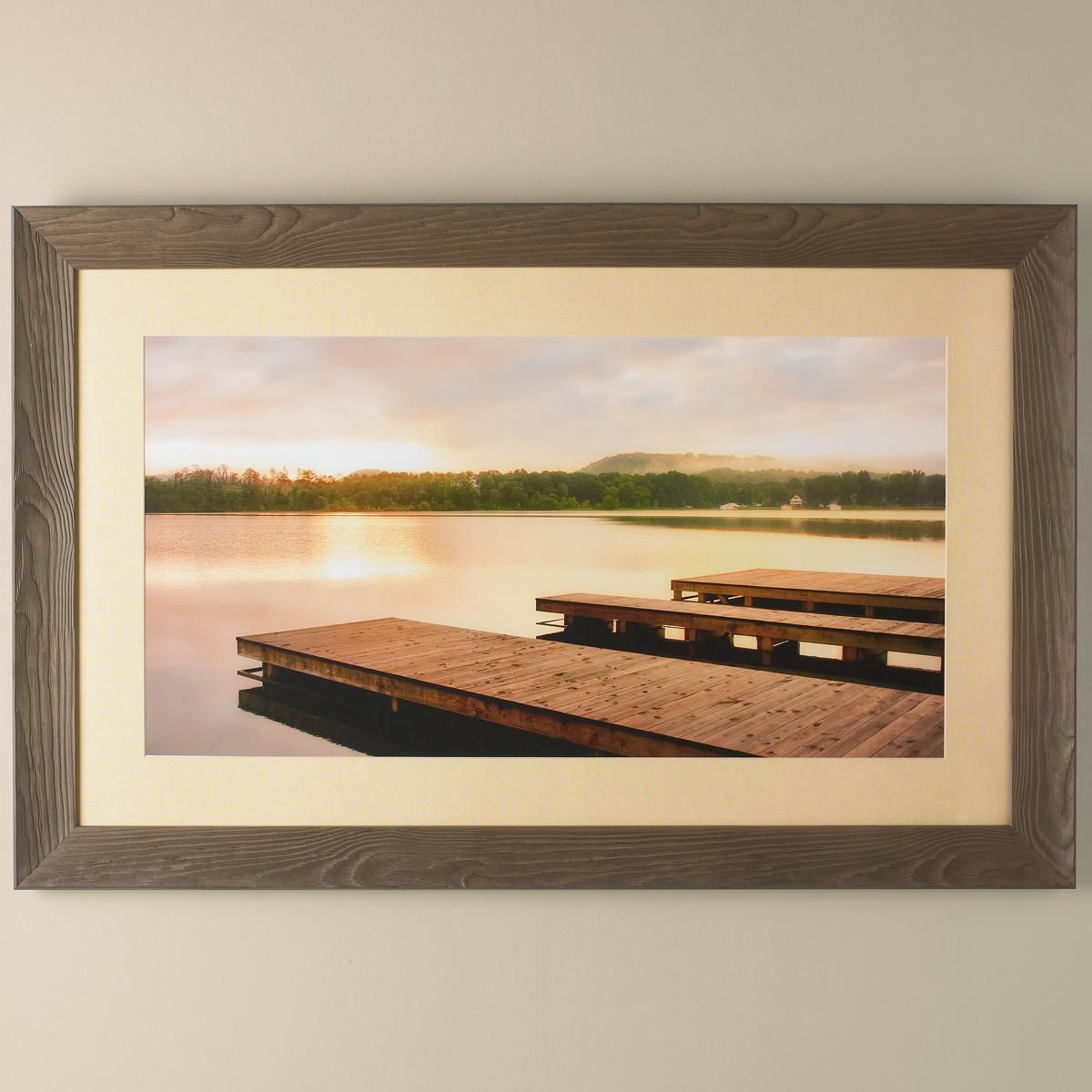 X river docks wood framed wall art this large water scene brings